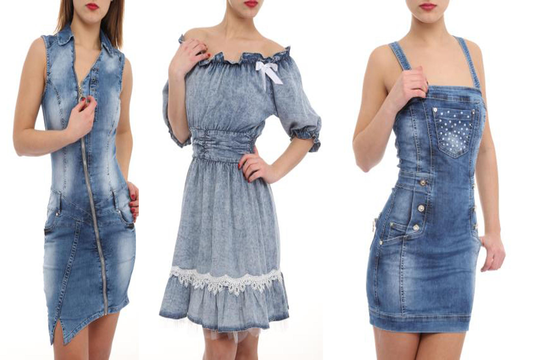 f17feb696fb6 Nasledujúcou tohtoročnou vychytávkou sú prepychové letné rifľové šaty s  ležérnymi či priliehavými strihmi. Táto rifľová odev môže byť kombinovaná  búď s ...