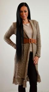 pleteny damsky sveter dlhy