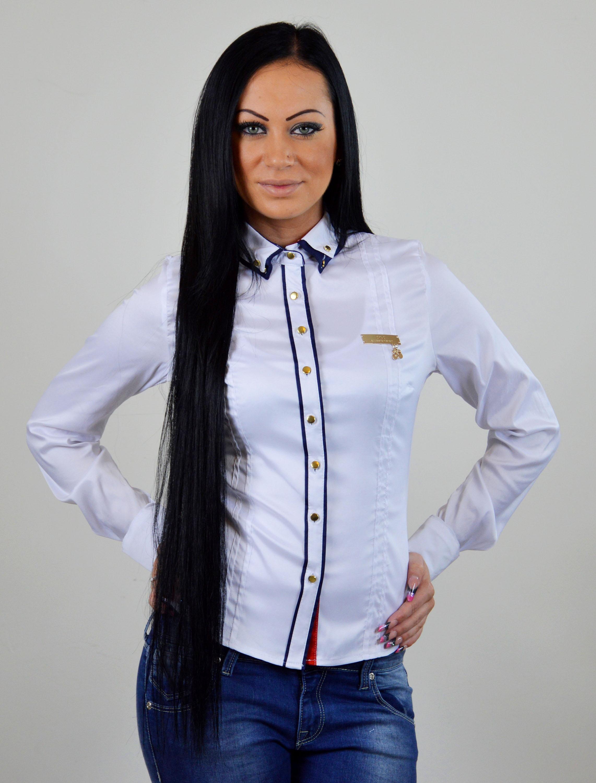 dcaccdfbfb63 damska bluzka tmavomodra biela damska kosela ...