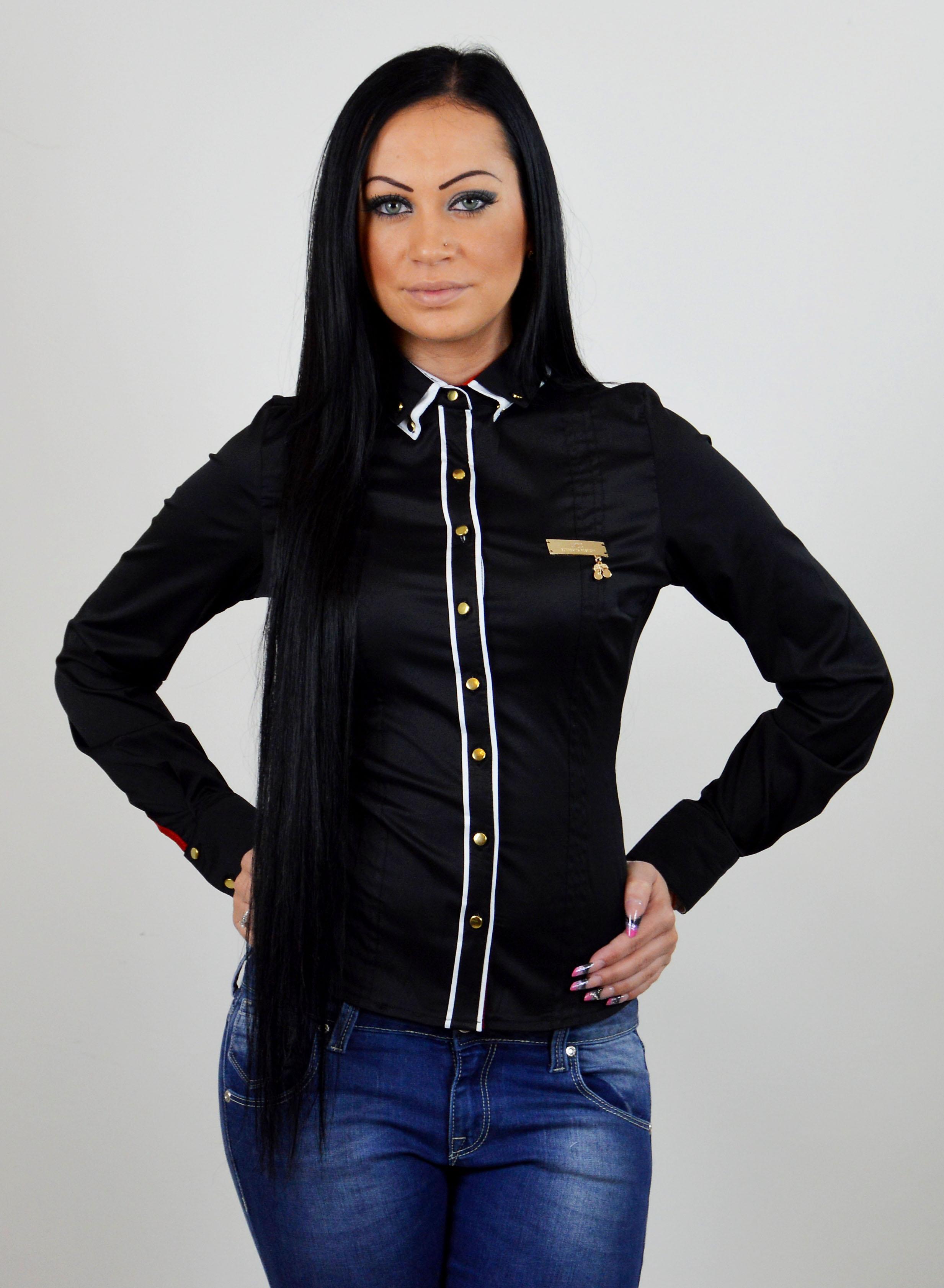 8569f35feb82 damska bluzka tmavomodra biela damska kosela cierna damska kosela ...