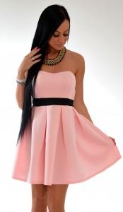 ružové šaty