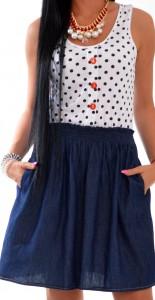 šaty s guličkami