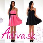 Romantické šaty bez ramienok pre všetky zvodné dámy