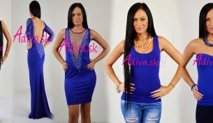 modre damske oblecenie