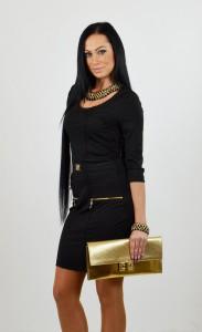krátke čierne šaty