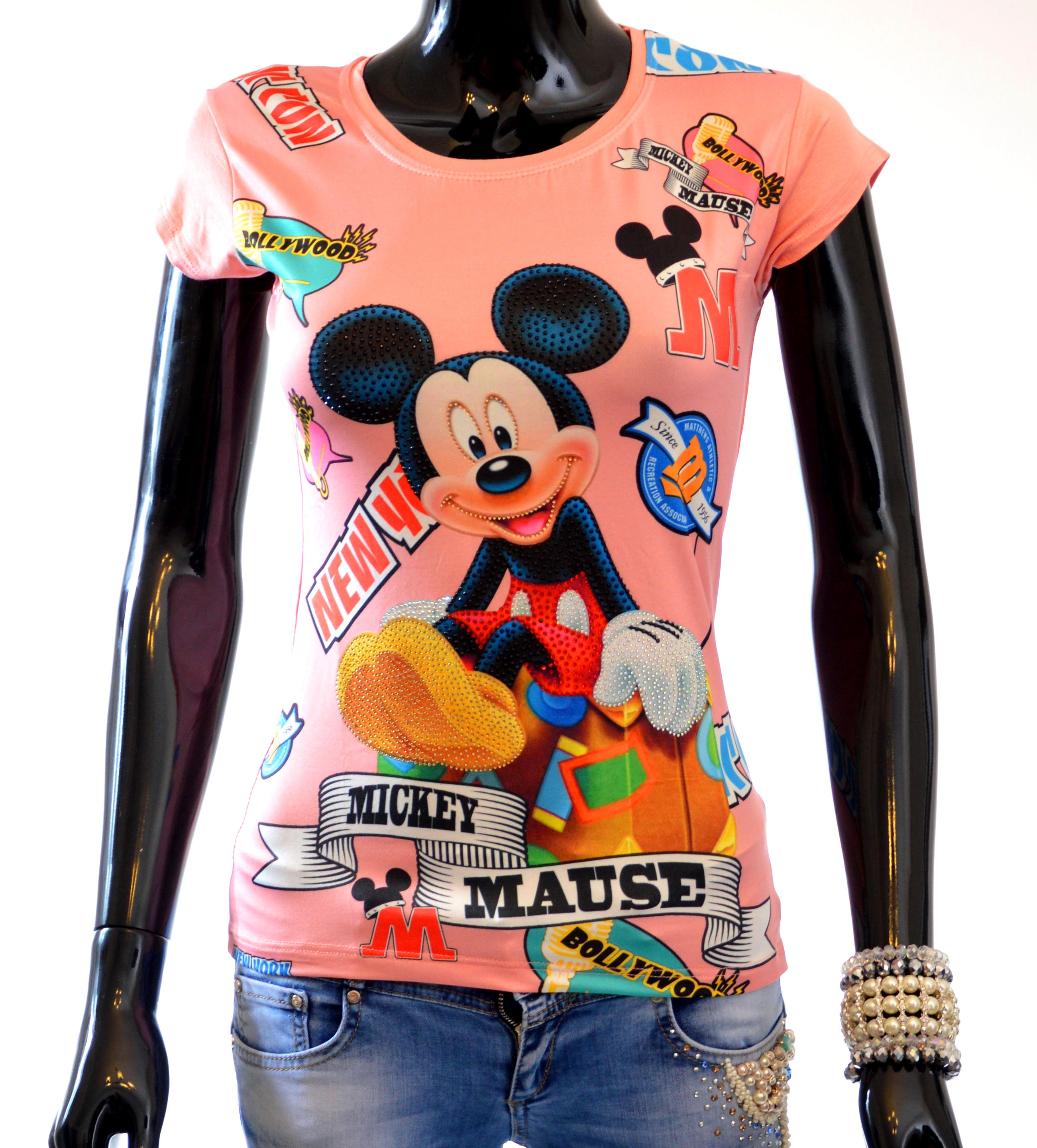 de3ea385acc2 Krásne dámske tričká Mickey Mouse a Minnie Mouse