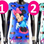 Krásne dámske tričká Mickey Mouse a Minnie Mouse