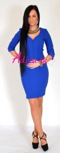 elegantné modré šaty