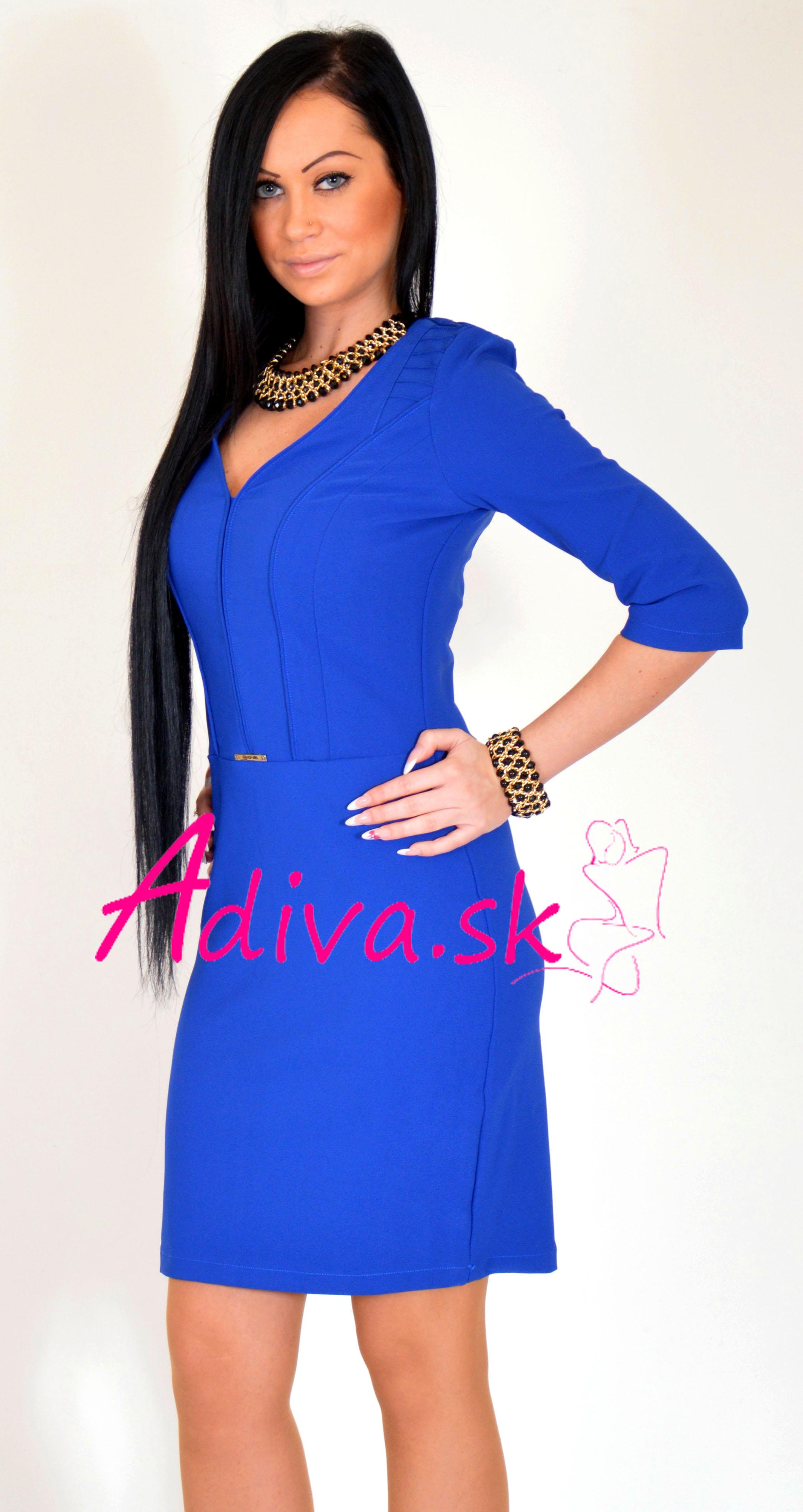 5400299248fe elegantné modré šaty elegantne šaty ...