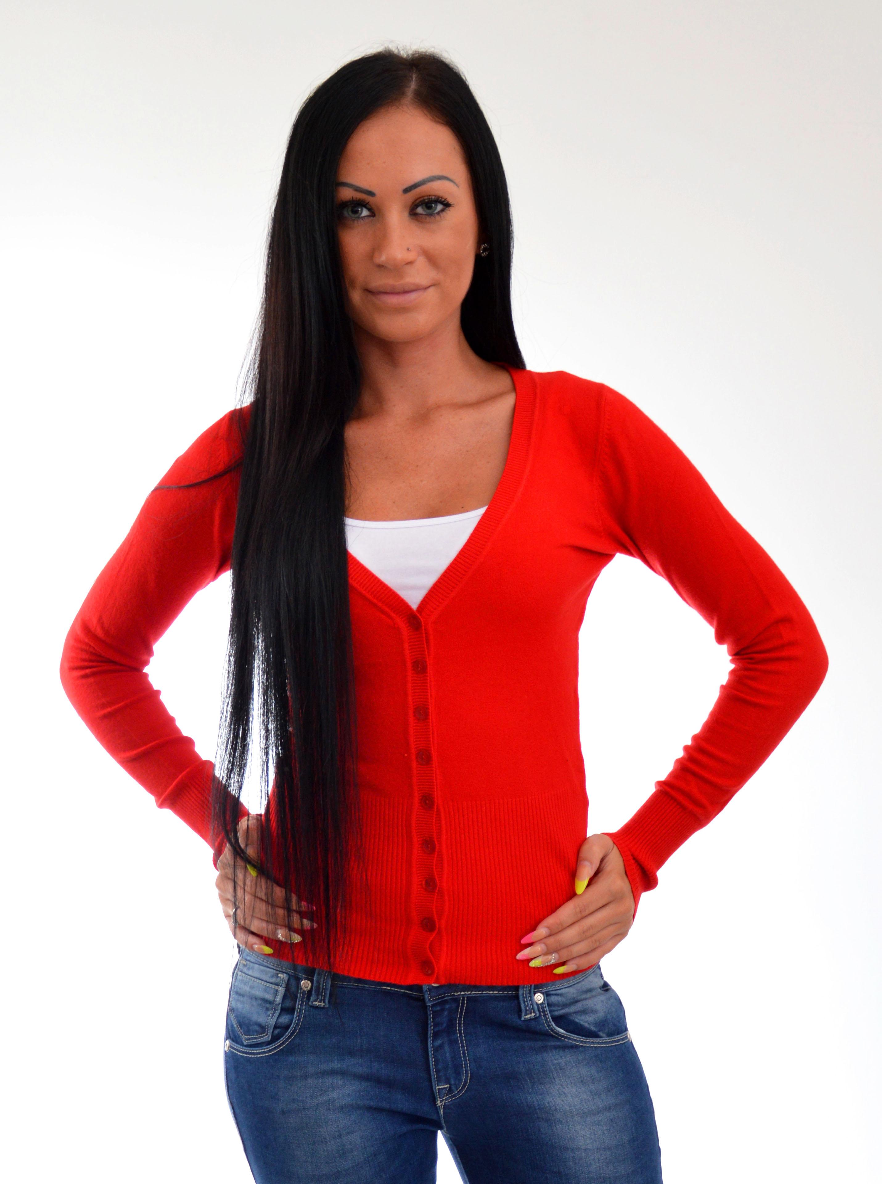 8461e625b886 sveter na gombiky cerveny sveter na gombiky ...