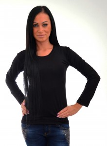 čierne damske tričko