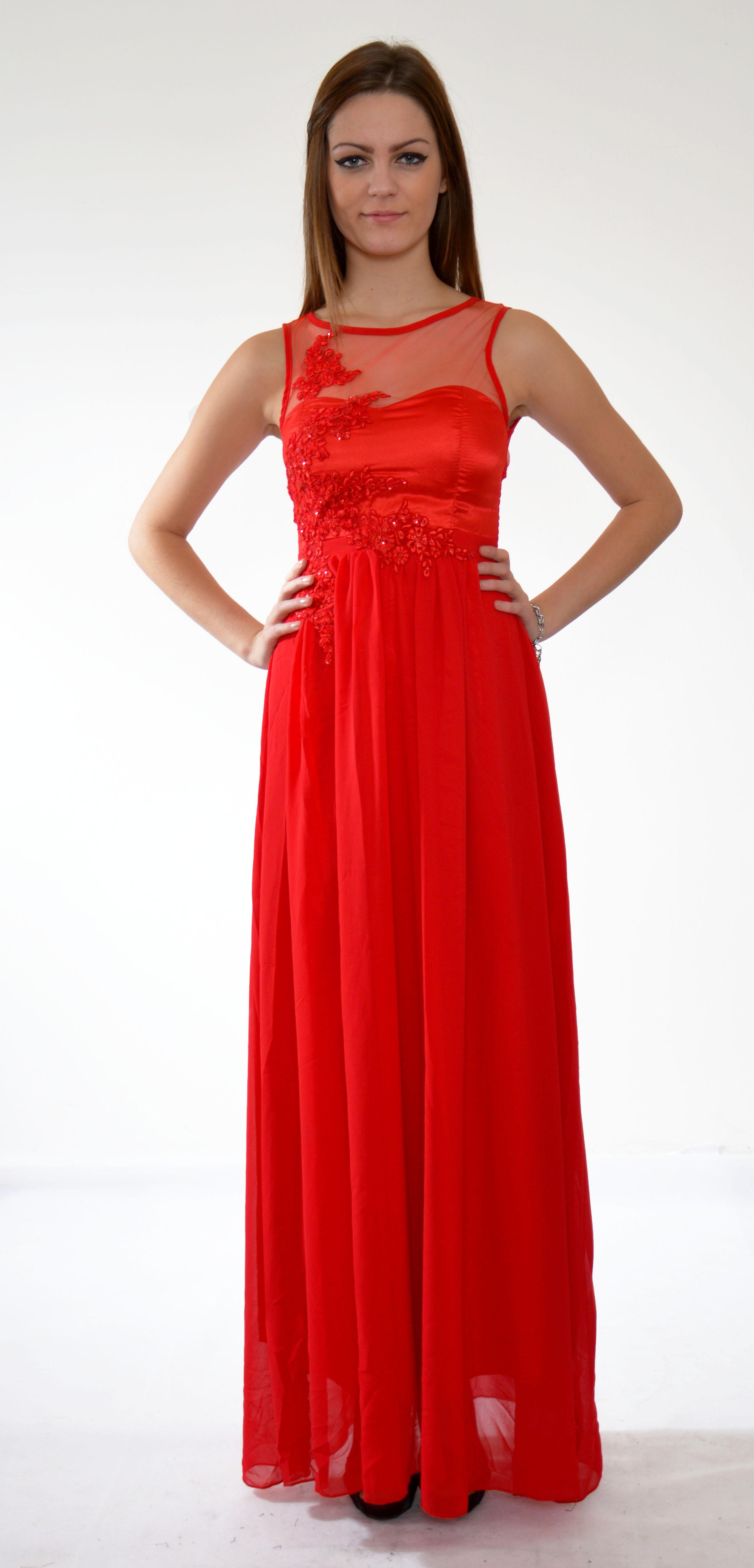 ruzove saty na stuzkovu červené spoločenské šaty s čipkou ... bb090ad3877