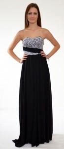 čierne kamienkové spolocenské šaty