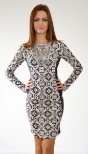 šaty s koženkou