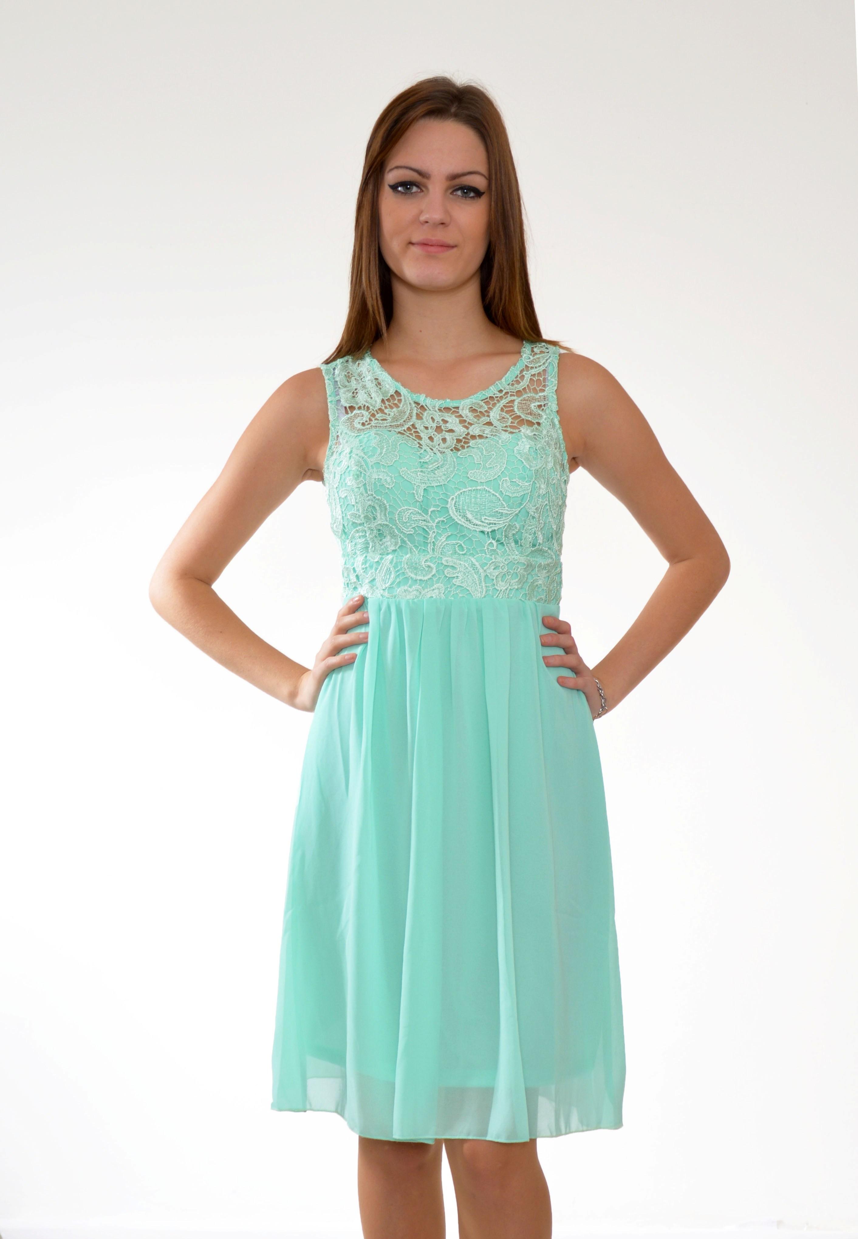 0959f1009b69 krátke mentolove spolocenske šaty mentolové spoločenské šaty ...