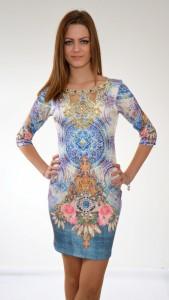 luxusné fialové šaty