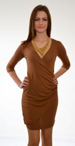 hnedé šaty