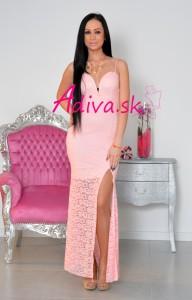 ružové čipkované šaty